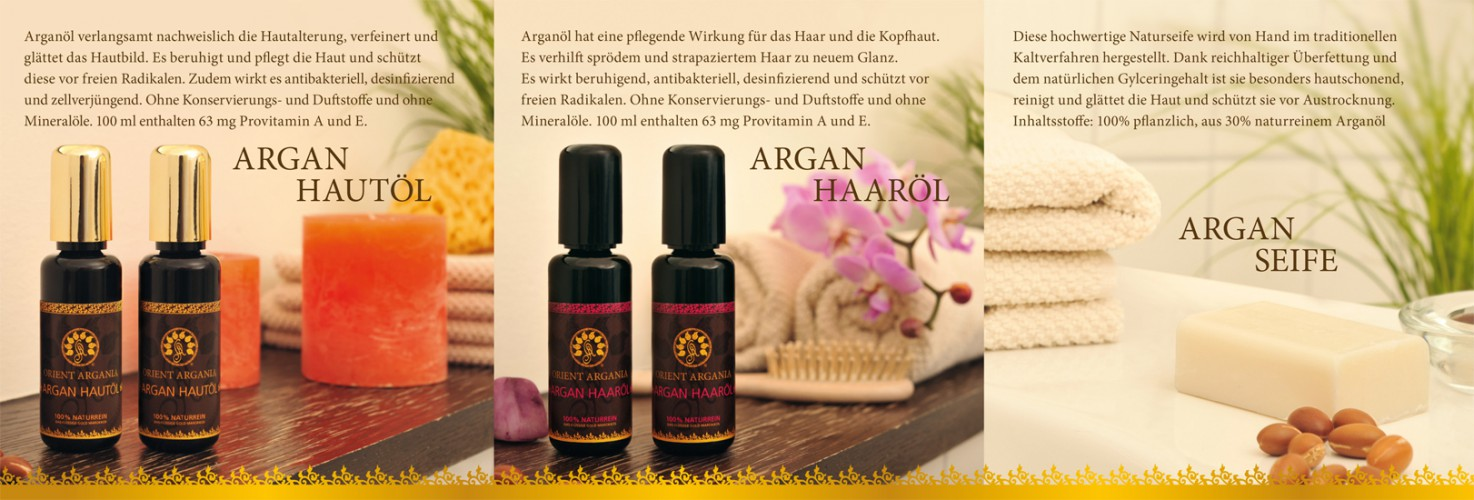 Produktfotografie für Argan Öl